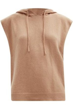 The Frankie Shop Juno Sleeveless Hooded Wool-blend Sweater - Womens - Camel