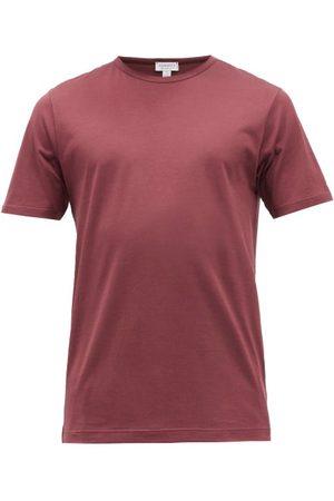 Sunspel Crew-neck Cotton-jersey T-shirt - Mens - Burgundy