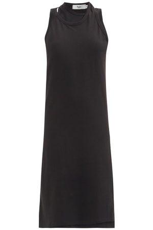 The Frankie Shop Draped Double-layer Cotton-blend Tank Dress - Womens