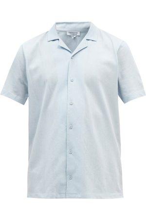 Sunspel Riviera Cuban-collar Cotton-piqué Shirt - Mens - Light