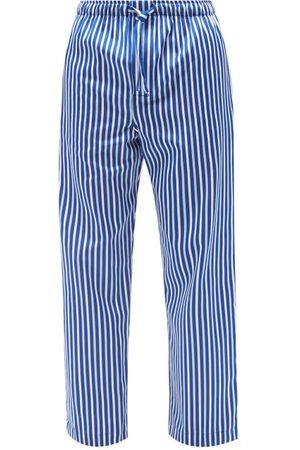 DEREK ROSE Wellington Striped-cotton Pyjama Trousers - Mens - Multi