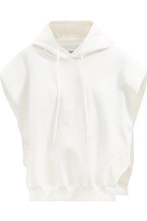 The Frankie Shop Alex Sleeveless Hooded Cotton-jersey Sweatshirt - Womens - Ivory