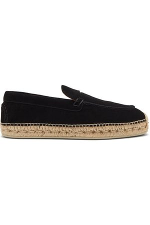 Christian Louboutin Paquepapa Suede Penny-loafer Espadrilles - Mens