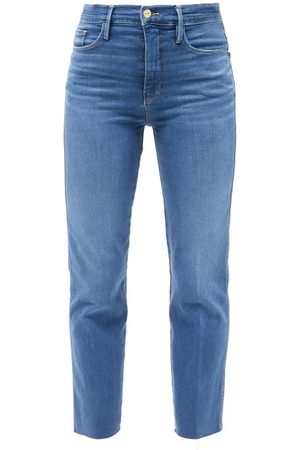 Frame Women Straight - Le Sylvie Cropped Straight-leg Jeans - Womens - Mid Denim