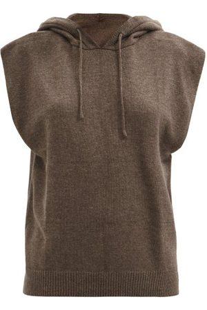 The Frankie Shop Juno Sleeveless Hooded Wool-blend Sweater - Womens - Dark