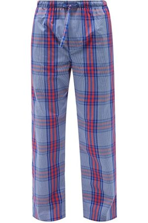 DEREK ROSE Barker Checked Cotton Lounge Trousers - Mens - Multi