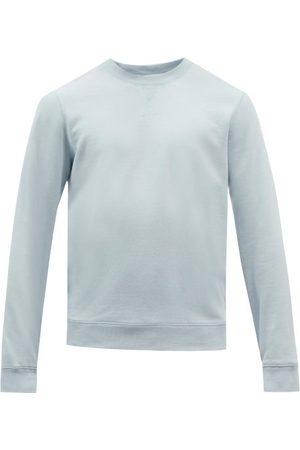 Sunspel Crew-neck Cotton-blend Jersey Sweatshirt - Mens - Light