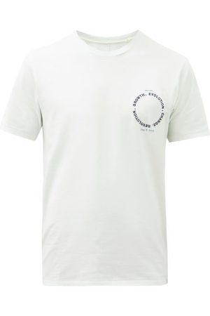 RAG&BONE Embroidered Organic Cotton-jersey T-shirt - Mens - Light