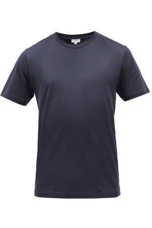 Sunspel Riviera Cotton-jersey T-shirt - Mens - Navy