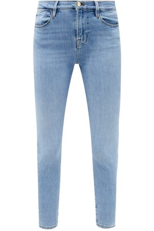 Frame Le High Skinny Cropped Jeans - Womens - Mid Denim