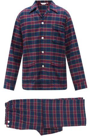 DEREK ROSE Kelburn Tartan-jacquard Cotton-twill Pyjamas - Mens - Multi