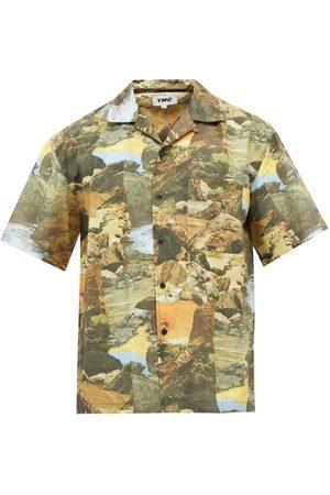 YMC Mitchum Landscape-print Cotton-blend Shirt - Mens - Multi