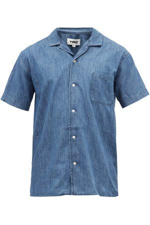 YMC Malick Short-sleeved Organic-cotton Shirt - Mens - Indigo