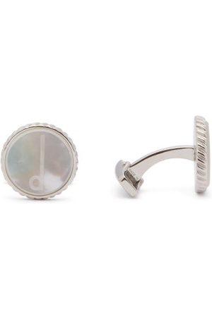 Dunhill Men Cufflinks - Mother-of-pearl & Rhodium-plated Cufflinks - Mens