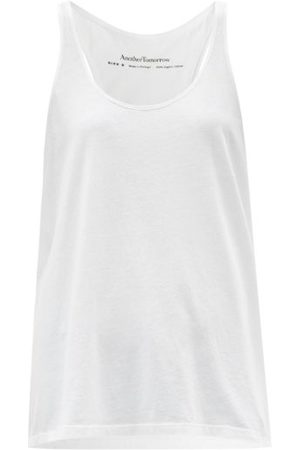 Another Tomorrow Scoop-neck Organic Cotton-jersey Tank Top - Womens