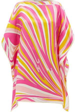 Emilio Pucci Vortici-print Silk-satin Mini Dress - Womens - Print