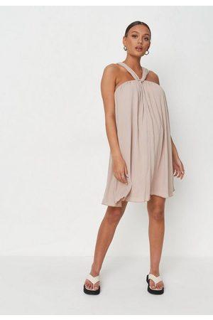 Missguided Halterneck Maternity Smock Dress