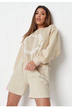 Missguided Stone Msgd Graphic Sweatshirt