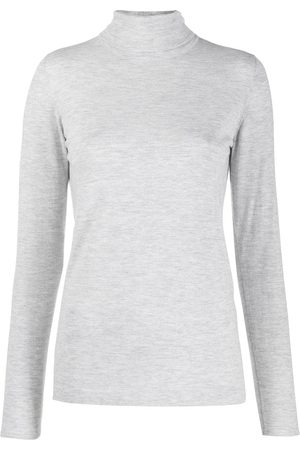 Brunello Cucinelli Women High Necks - Turtleneck top - Grey