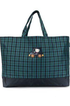 Familiar Boys Bags - Gingham checked tote bag