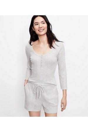 Loft Women Pajamas - Pointelle Henley Pajama Top