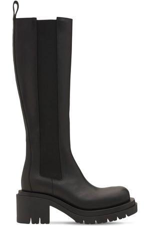 Bottega Veneta Women Thigh High Boots - 70mm Lug Leather Tall Boots