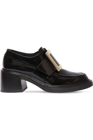 Roger Vivier 60mm Viv Rangers Patent Leather Loafers