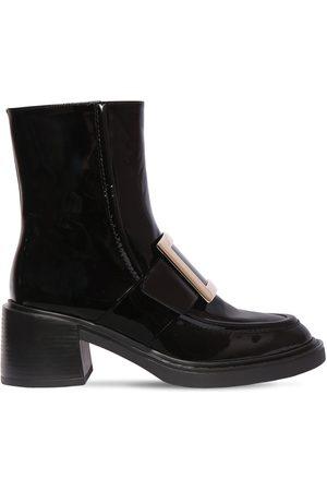 Roger Vivier 60mm Viv Rangers Patent Leather Boots