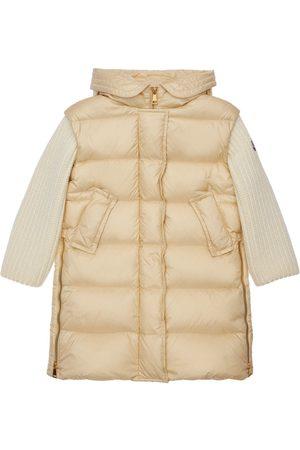 Moncler Katife Hooded Nylon Down Coat