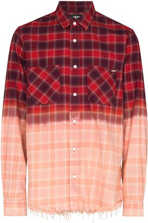 AMIRI Men Shirts - Bleach-gradient checked shirt