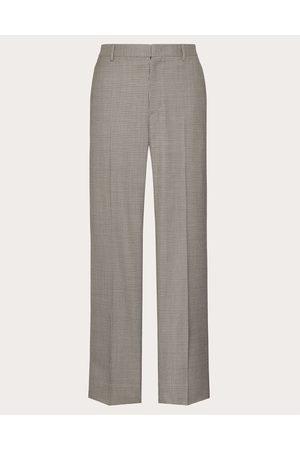 VALENTINO Wool Pants Man Grey Virgin Wool 100% 48