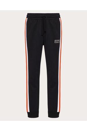 VALENTINO Men Pants - Technical Cotton Pants With Vltn Tag Color Block Man /neon Cotton 45%, Polyester 55% L