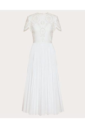 VALENTINO Women Dresses - San Gallo Edition Techno Poplin Dress Women Polyester 25%, Cotton 75% 40