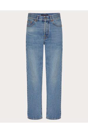 VALENTINO Men Pants - Denim Pants With Vlogo Signature Man Light Denim Cotton 100% 28
