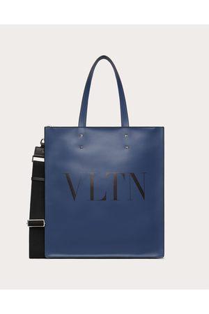 VALENTINO GARAVANI Men Bags - Vltn Leather Tote Bag Man Indigo 100% Pelle Bovina - Bos Taurus OneSize