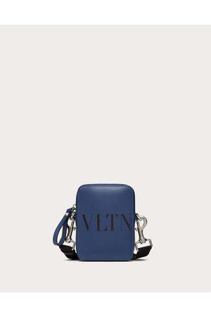 VALENTINO GARAVANI Men Bags - Small Vltn Leather Crossbody Bag Man Indigo 100% Pelle Bovina - Bos Taurus OneSize