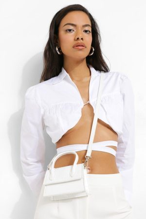 Boohoo Womens Croc Top Handle Cross Body Grab Bag - - One Size