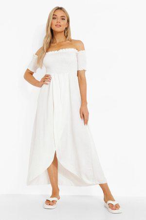 Boohoo Womens Off The Shoulder Maxi Dress - - 4