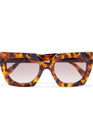 Ganni Woman Square-frame Tortoiseshell Acetate Sunglasses Tan Size