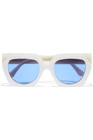GANNI Women Square - Woman Square-frame Acetate Sunglasses Ivory Size