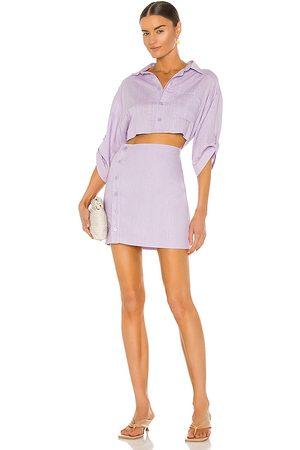 Bardot The Mini Shirt Dress in Lavender.