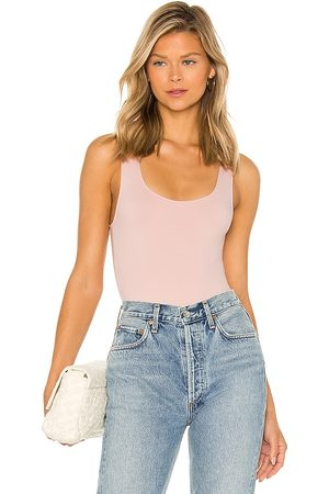 Only Hearts Delicious Tank Bodysuit in Blush.
