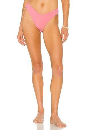 JONATHAN SIMKHAI Zola Bikini Bottom in Pink.