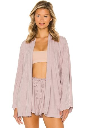 Lovers + Friends Jay Robe in Mauve.