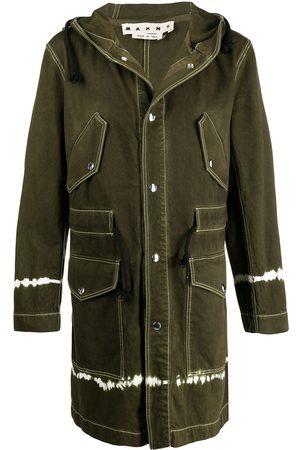 Marni Tie-dye hooded coat