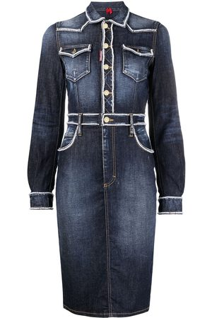 Dsquared2 Women Jeans - Beaded-trim denim dress