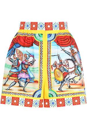 Dolce & Gabbana Women Shorts - Graphic-print high-waisted shorts