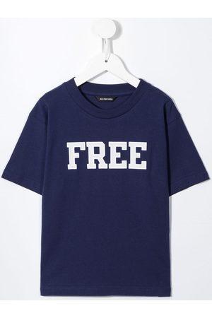 Balenciaga Boys T-shirts - Free slogan-print T-shirt
