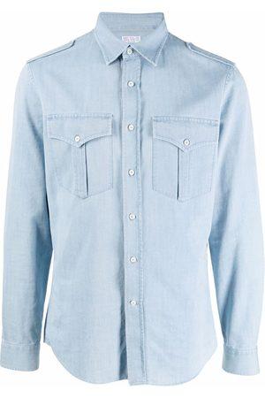 Brunello Cucinelli Men Denim - Button-down denim shirt