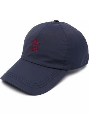 Brunello Cucinelli Men Caps - Embroidered-logo cap